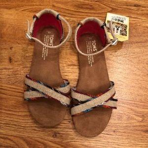 Toms Correa Sandal - Natural Burlap - Size 3